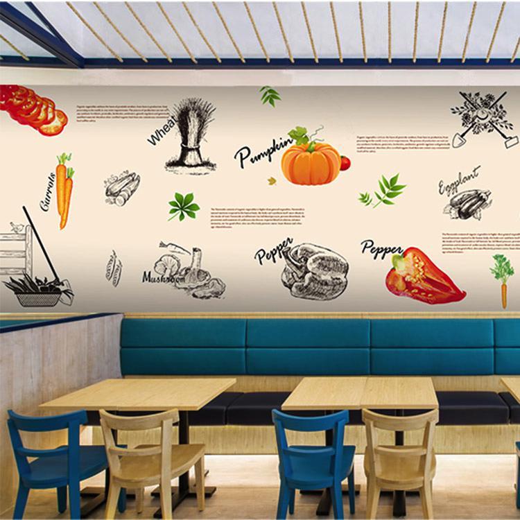 Fast Food Wall Graphics Takeaway Wall Paper Restaurant