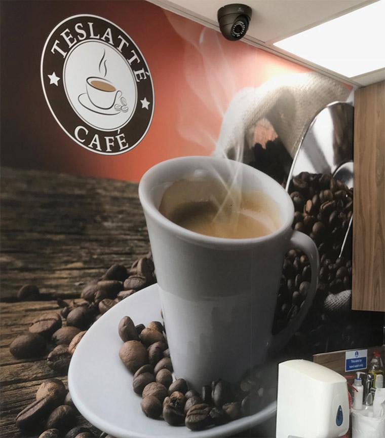 Teslatte Coffee Shop